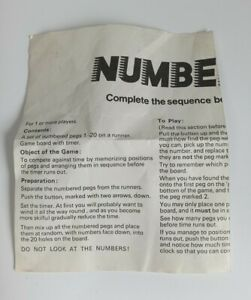 Numbers Up Game Replacement Instructions Rules