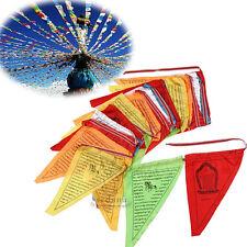 Tibetan Buddhist Prayer Flags 216 Inch Long Buddhism Triangle Prayer Scriptures