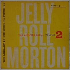 JELLY ROLL MORTON: The Animal Ball Vol 2 RIVERSIDE DG Jazz LP NM- Superb