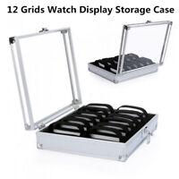 12 Grid Slots Organizer New Watch Display Box Jewelry Storage Holder Case