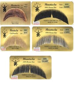 Basic Character Mustache (Choose Color) Human Hair Facial Costume Cosplay 100%