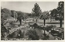 """""""Vintage old photo postcard from collection"""" Bournemouth,Lilypond,Central Garden"""