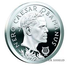 2017 1 oz .999 fine silver shield   Caesar Obamanus  bu  bullion round