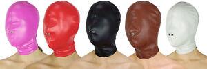 Maske geschlossen Full Face Hood ohne Öffnungen Ledermaske Kopf Leder Maske BDSM