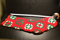 Large  Handmade Granny Square Christmas Stocking —22 Inches