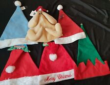 Christmas - Santa Hats, Turkey Hats, Red, Blue, Adult, Child, Deluxe,Fur Trimmed