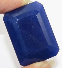 Emerald Shape Outstanding Certified Blue Sapphire Faceted 96.20 Ct Gemstone