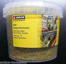 (100g=7,49€) NOCH 08155 Streugras Blumenwiese, 2,5 mm lang, 120g Dose, Neu