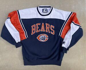 Vintage Starter Chicago Bears NFL Football Crewneck Sweatshirt ~ Size Large