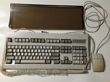Vintage Tandy Enhanced Keyboard with dust cover and mouse, TESTED.