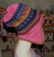 ee3c8bc7072a7 Brand New Made In Peru Super Fine 100% Alpaca Chullo With Felt Lining  0579