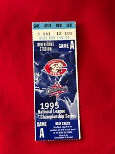1995 NLCS GAME A TICKET STUB CINCINNATI REDS AND ATLANTA BRAVES