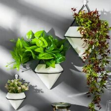 ins Wall Hanging Plants Flower Pots Ceramic Planter Metal Stand Holder Nordic 1X