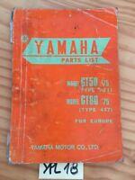 Yamaha GT50 FT1 GT80 477 1975 GT 50 80  catalogue pièce détachée parts list moto