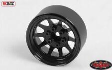 "OEM Stamped Acero 1.9"" mm Ruedas Negro RC4WD Z-W0210 6 Lug Hex montaje"