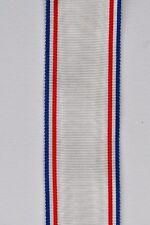 Ruban de la médaille de la Reconnaissance Française, tissage ancien