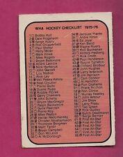 RARE 1975-76 OPC WHA # 131 MARKED CHECKLIST  CARD  (INV#2640)