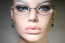 Minimalistic LEON FREEMAN 'Mia' C1 Dark Chrome Glasses Eyeglass Frames 47 18 135