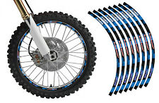 Blue Dirt Bike Rim Protector Decal Kit for 19 and 21 inch Wheels Design No2119yb