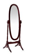 Cheval Mirror Mahogany Adjustable Oval Traditional Tall Mirror