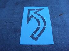 """Wal Mart 76"""" """"Inside Out"""" Turning Arrow Parking Lot Stencil .062"""" Thick Ldpe"""