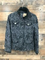 BKE Women's Black Paisley Print Utility Jacket Size S