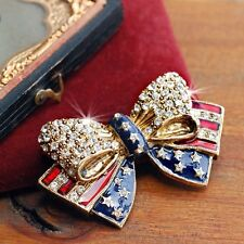 Sweet Romance American Bow Patriotic Pin  ~Made in California~