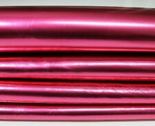 METALLIC ROSE PINK Italian Lambskin Lamb Sheep Leather skin 5sqf 0.6mm #4577