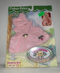 1998 Mattel Fisher Price Briarberry Wear Doll Fashion Pack PINK DRESS Bow MOC