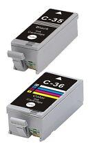 Ora inchiostro 2 inchiostri per PGI 35 & CLI 36 per Canon Pixma ip100, ip110 nero e colore a scelta