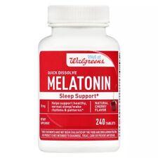 Walgreens Melatonin | Sleep | 240 Quick Dissolve Tablets | 10mg | Cherry Flavor