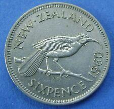 New Zealand - Nieuw Zeeland 6 Pence Sixpence 1960 - KM# 26.2