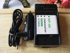 2 x Li-ion NP-40 Battery + Charger For Casio EX-Z30/Z40/Z50/Z750 EX-P505