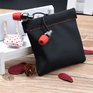 earphone portable  case pu leather storage bag headset headphone carrying pouch