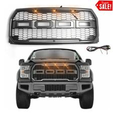 For 2015-2017 Ford F150 Pickup Front Bumper Hood Grille ABS Raptor Style F-150