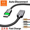 Mcdodo Lightning Cable Braided Auto Disconnect iPhone 6 7 8 S X USB Data Charger