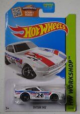 HOT WHEELS WORKSHOP DATSUN 240Z WHITE LONG CARD 243/250 NISSAN OZAKI