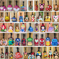 110 Styles Disney Cartoon Name Card Travel Suitcase Luggage Tags Backpack Labels