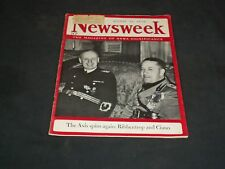 1939 AUGUST 21 NEWSWEEK MAGAZINE - RIBBENTROP AND CIANO - NW 6