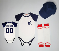 New York Yankees Personalized Infant Jersey Custom Bodysuit Shirt Outfit