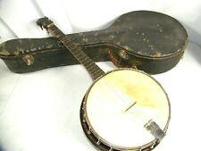Antique 1920s Banjo Slingerland Supertone Lange Resonator Grover Presto