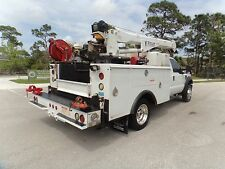 4X4 FORD F550 DIESEL SERVICE UTILITY MECHANICS 5K LBS CRANE TRUCK ONLY 92K MILES