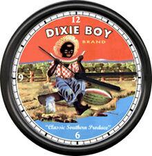 Dixie Boy Watermelon Black Americana Wall Clock #244