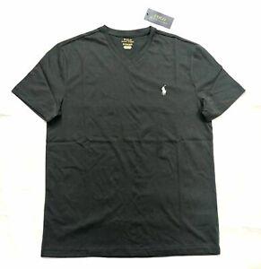 Polo Ralph Lauren Men's Charcoal Gray Cotton V-Neck T-Shirt