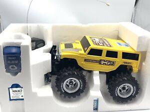 "NIKKO Hummer H2 Yellow RC Car 10""  4.8 Volt 2WD Truck (49 MHz) New"