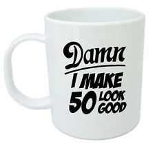 Damn 50 Mug, 50th Birthday gifts, presents, gift ideas for men, 50 year old