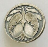 Dove Bird Flying Sunshine Religious Pin Badge Rare Vintage (F11)