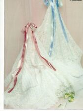 KNITTING PATTERN - 2 BABY SHAWLS/BLANKETS CHEVRON LACE & EYELET LACE PATTERNED