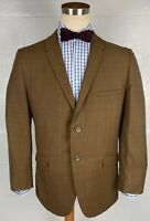 "vintage 60s union made glen plaid 2btn brown wool suit sz 42R 33.5"" x 28"""