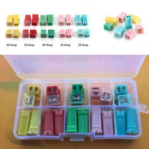 20Pcs 20A/30A/40A/50A/60A Square Fuses for Car Fuse Panels And Wiring Harnesse